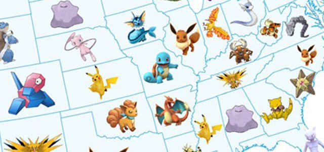 Pokemon GO's most sought-after Pokemon by US state