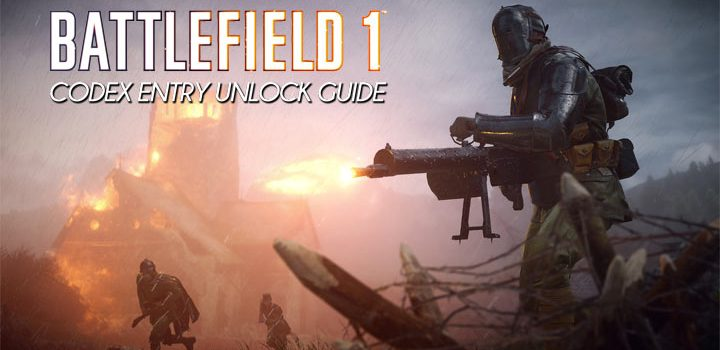 Battlefield 1 codex entry unlock guide