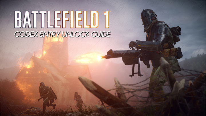 Battlefield 1 codex entry unlock guide