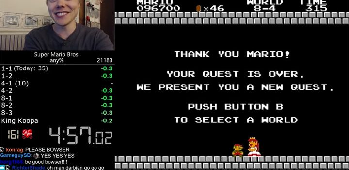 The 'impossible' Super Mario Bros speedrun record has been broken