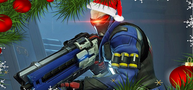 Snow rains from above as Christmas comes to Overwatch