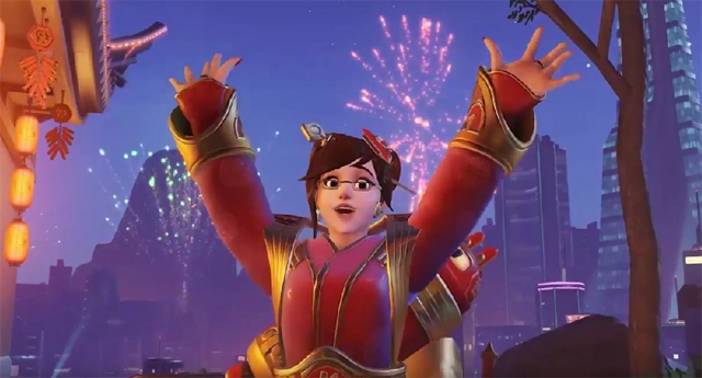 Overwatch players are losing it over Mei's Year Of The Rooster skin