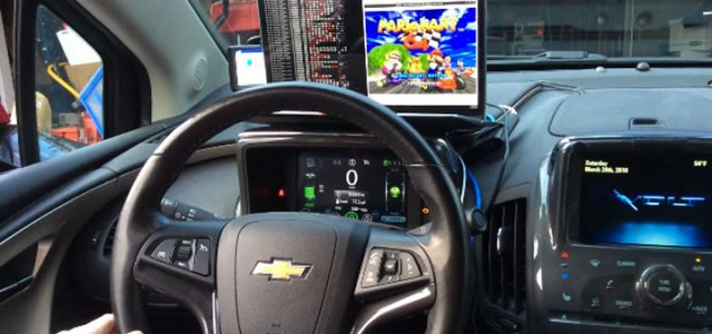 Mario Kart 64 played using a real Chevy as a controller, thanks to Raspberry Pi