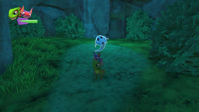 how to use sonar shot on pc yooka laylee