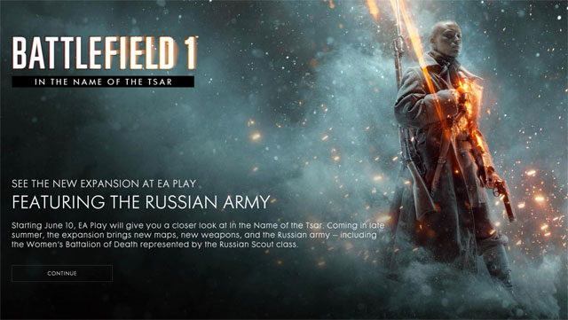 Battlefield 1 In the Name of the Tsar DLC coming late summer