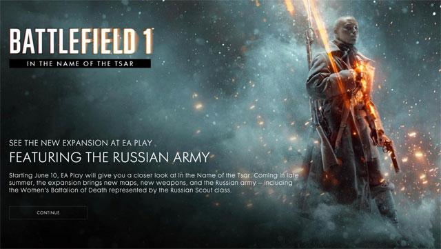 battlefield 1 tsar dlc