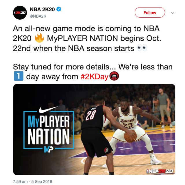 nba 2k20 my player nation