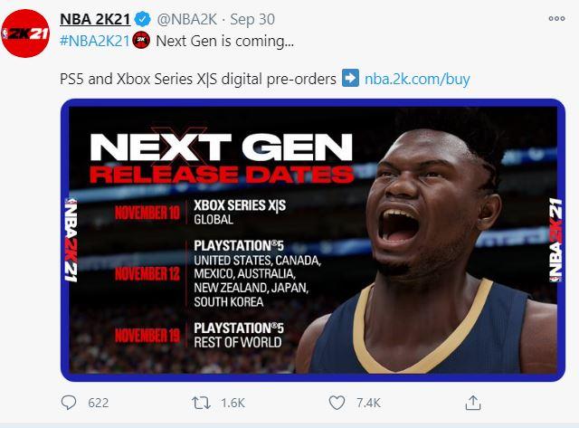 nba 2k21 next gen release date